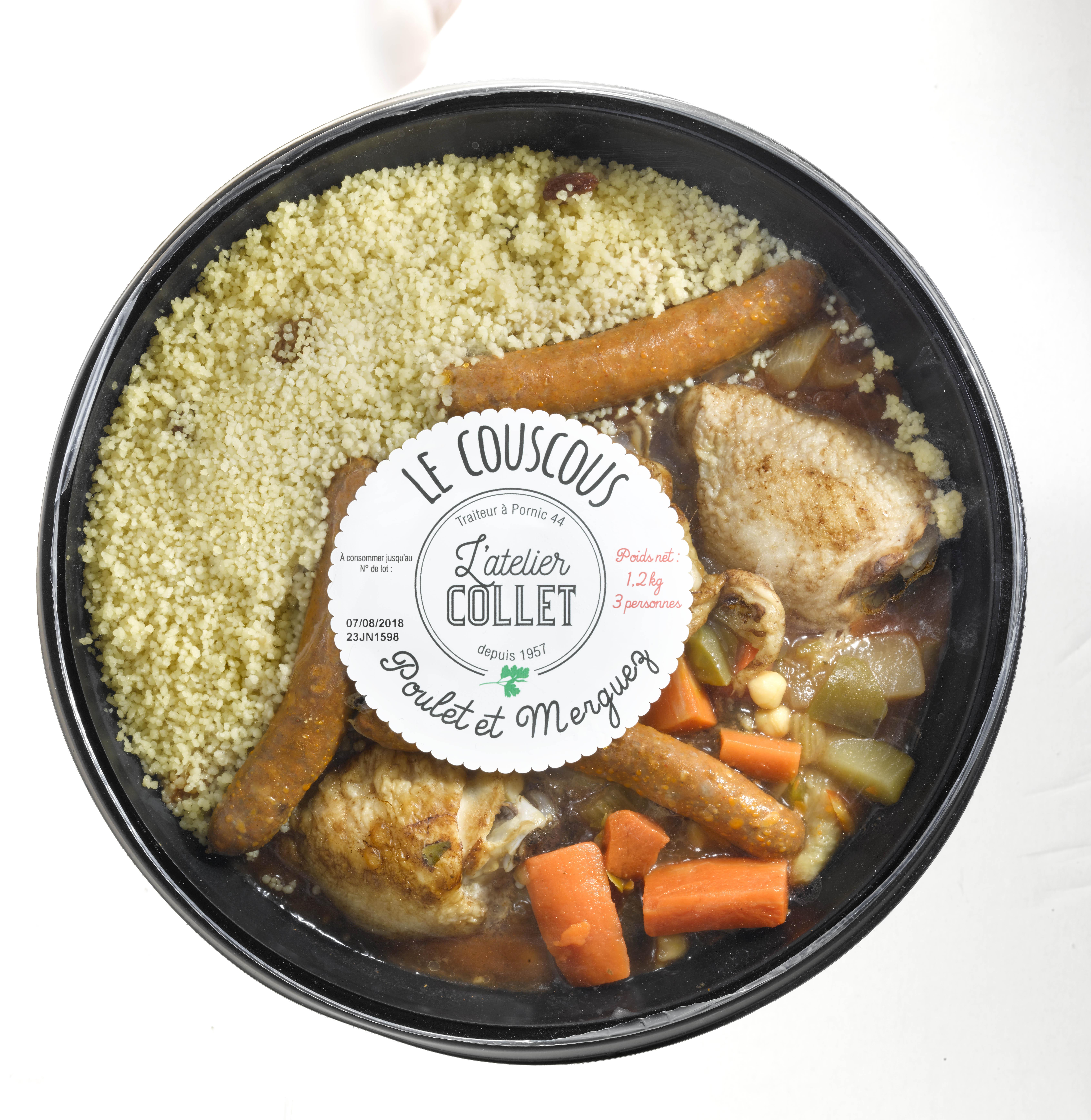 Couscous Viande et Semoule, L'atelier Collet (1,2 kg)