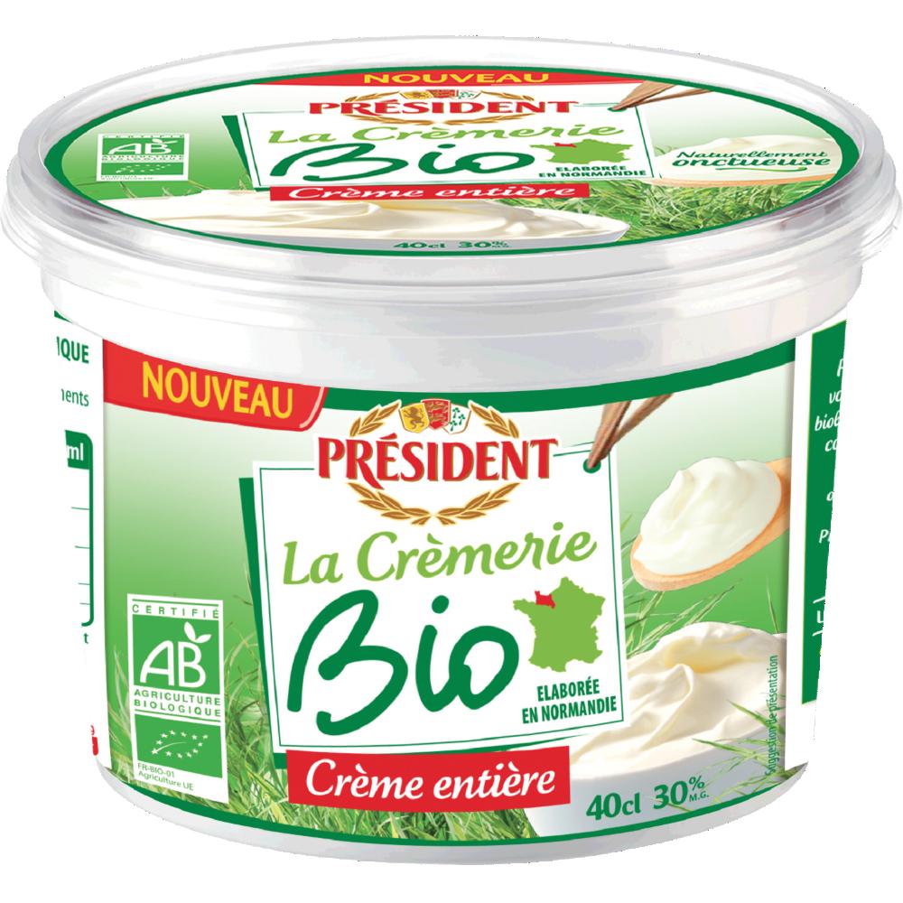 Crème fraîche épaisse BIO, Président (40 cl)