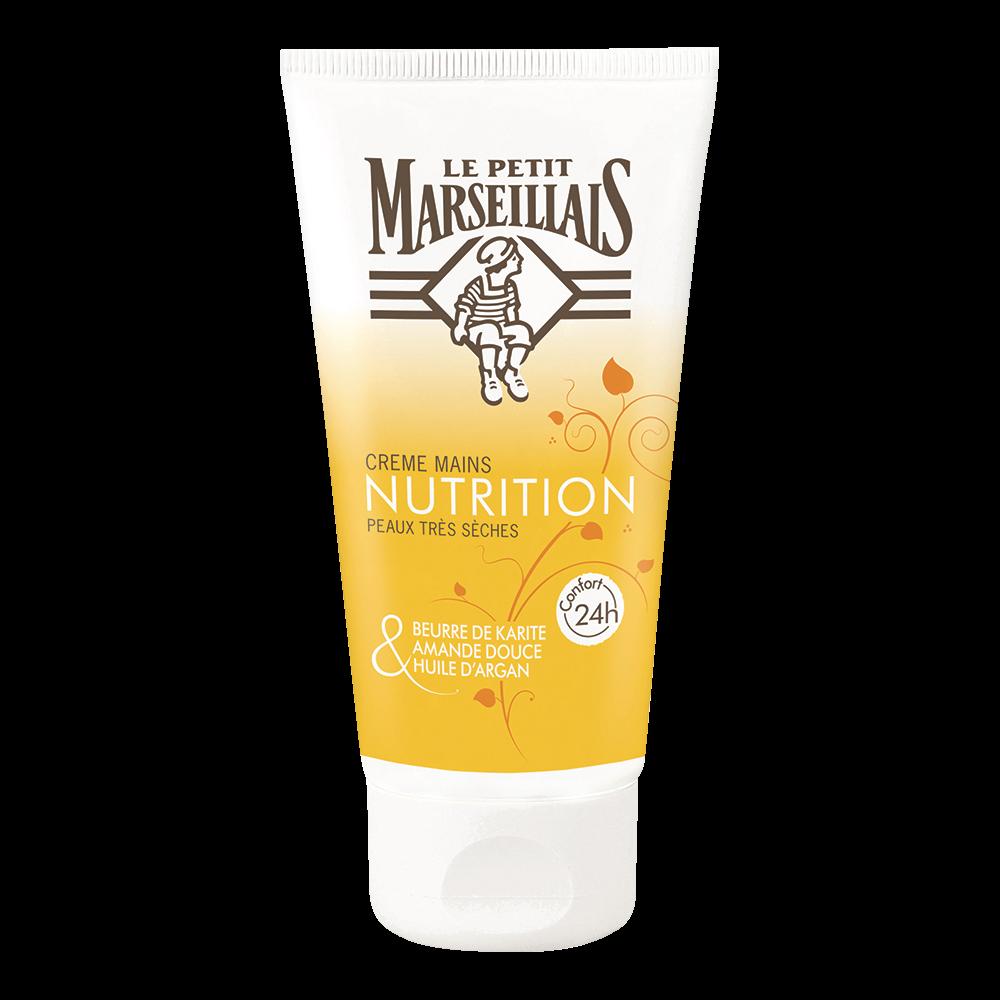 Crème pour les mains nourrissante Nutrition, Le Petit Marseillais (75 ml)