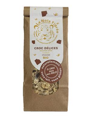 Croc délices (Souchet effilé, baobab, chocolat) BIO, La noix tigrée (120 g)