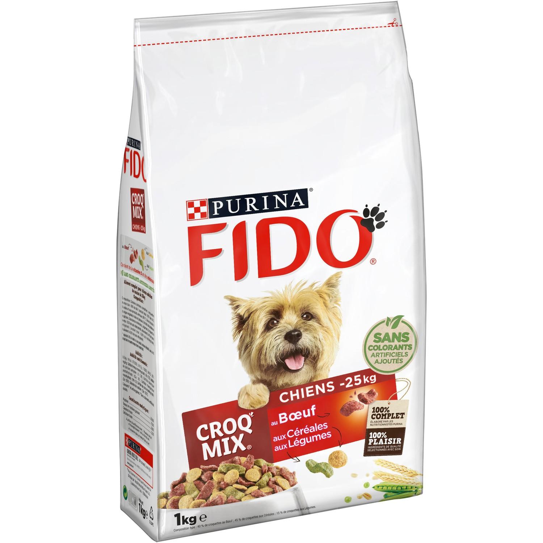 Croquettes Croq Mix pour chien -25kg Fido, Purina (1 kg)