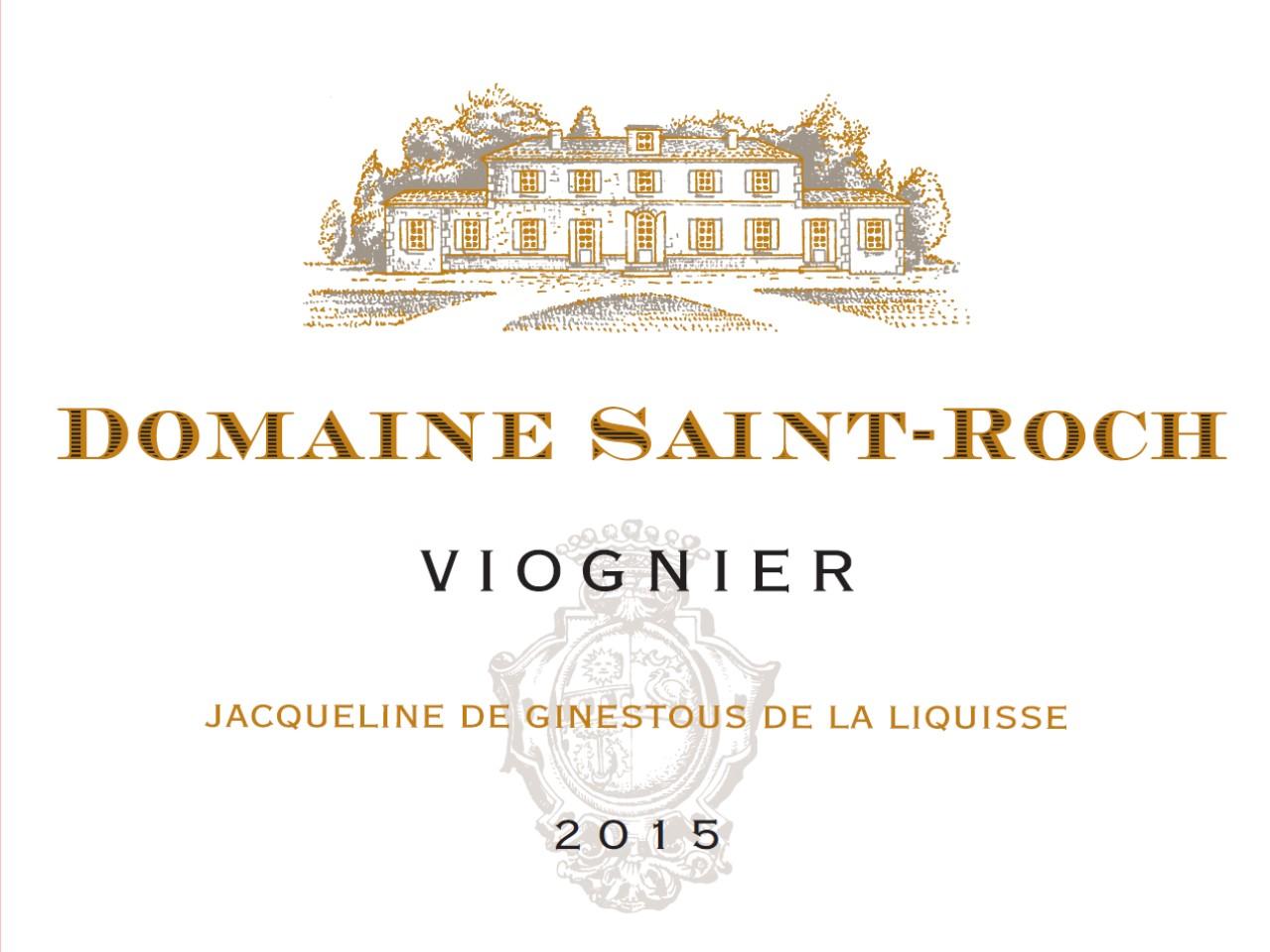 Domaine Saint Roch blanc Viognier 2016 IGP