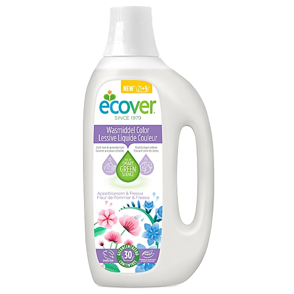 Lessive liquide couleurs, Ecover (1.5 L, 30 lavages)