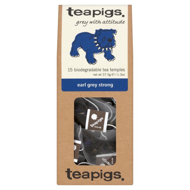 Thé Earl Grey fort, Teapigs (x 15 sachets)