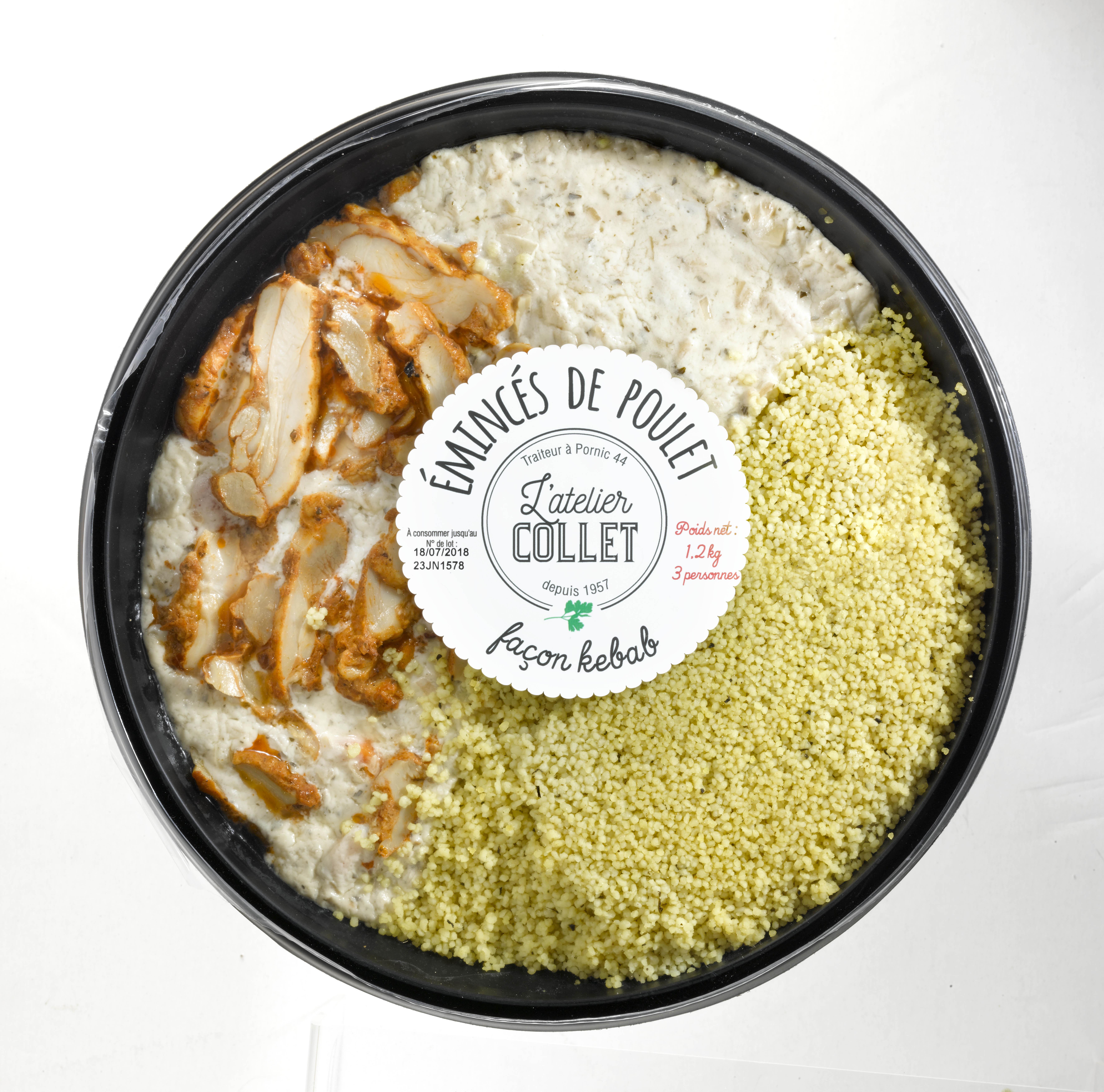 Emincé de Poulet Kebab et Semoule, L'atelier Collet (1,2 kg)
