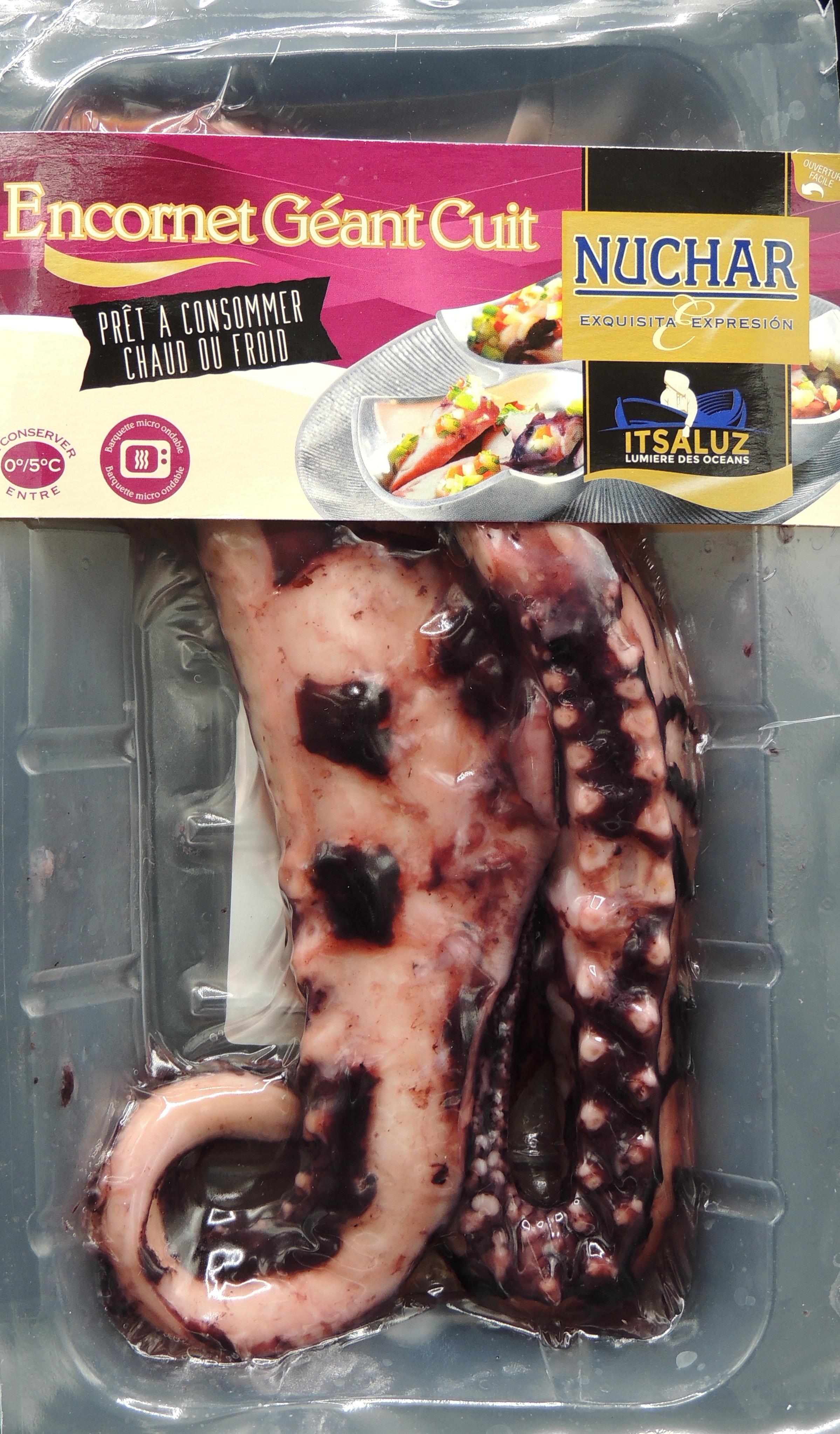 Encornet géant cuit entier/tentacule, Nuchar (265 g)
