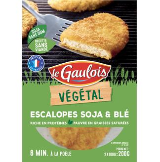 Escalopes panées soja et blé, Le Gaulois (2 x 100 g)