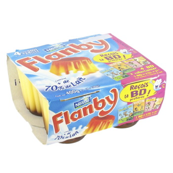 Flanby caramel (4 x 100 g)