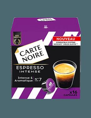 Café capsules Espresso Intense, Carte Noire / compatible dolce gusto (x 16)