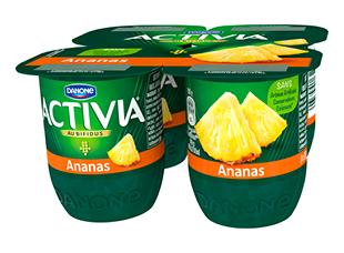 Yaourt Ananas Activia (4 x 125 g)