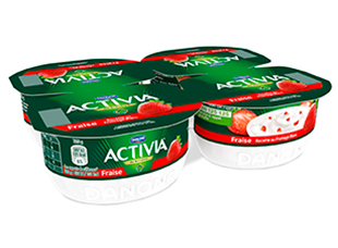 Fromage Blanc Fraise Activia (4 x 125 g)