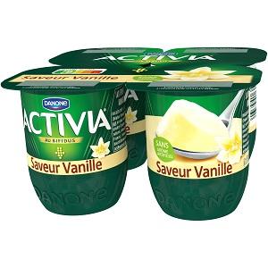 Yaourt Saveur Vanille Activia (4 x 125 g)