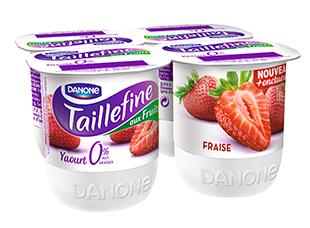 Yaourt Taillefine 0% Fraise, Danone (4 x 125 g)