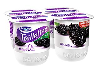 Yaourt Taillefine 0% Pruneaux, Danone (4 x 125 g)