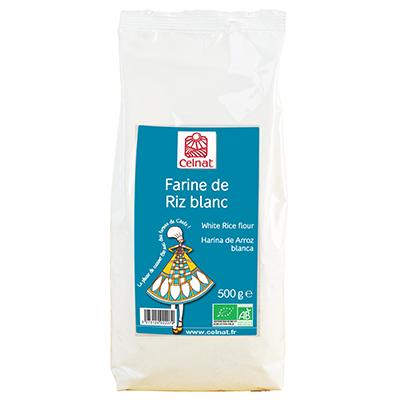 Farine de riz blanc BIO, Celnat (500 g)