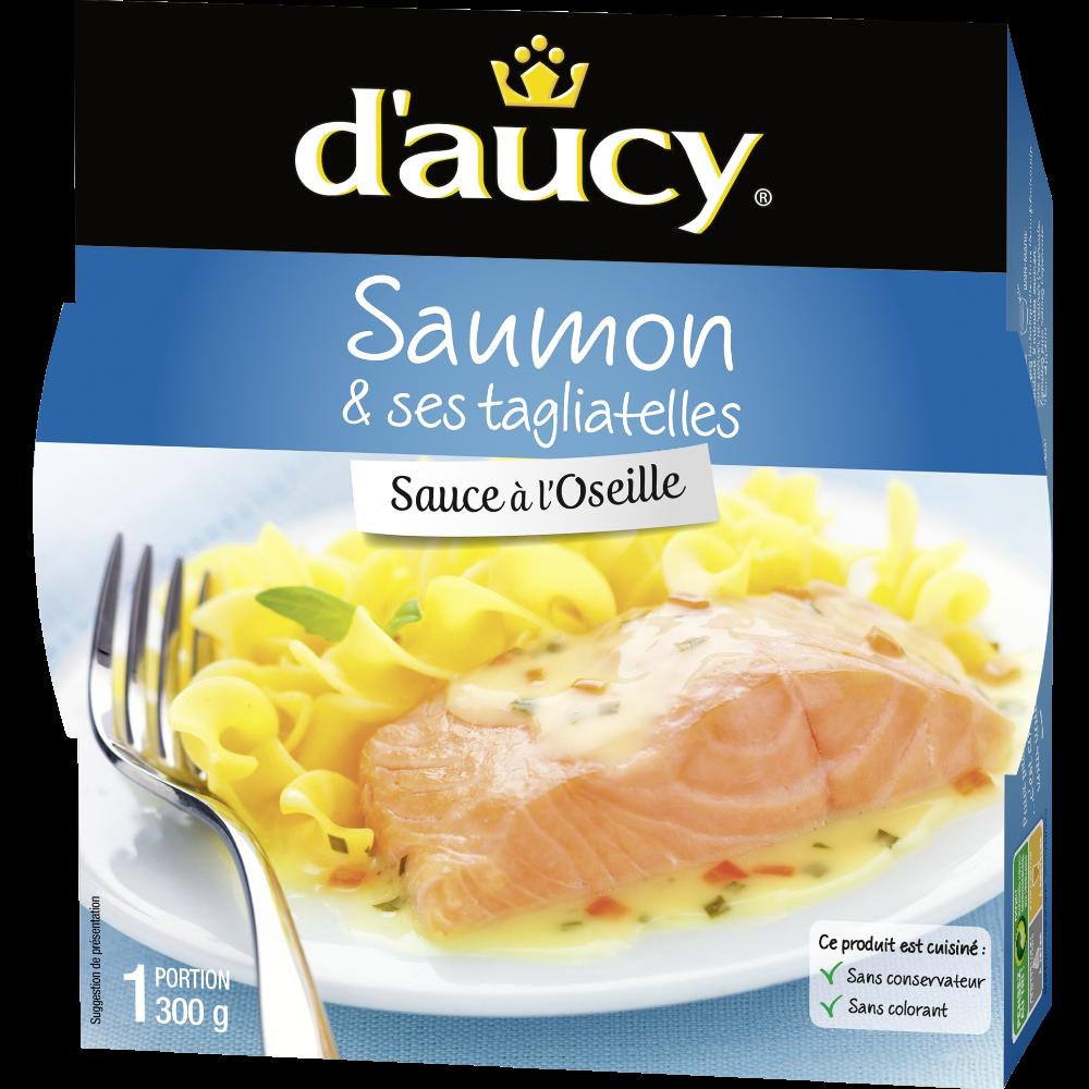 Filet de saumon à l'oseille et tagliatelles, D'aucy (300 g)