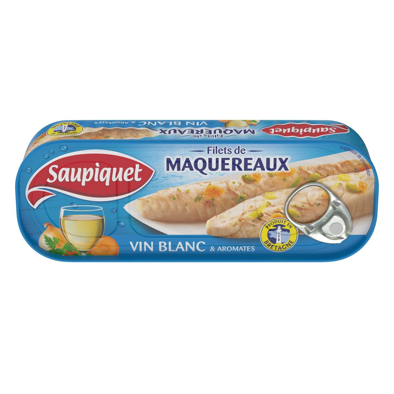 Filets de maquereaux au vin blanc, Saupiquet (176 g)