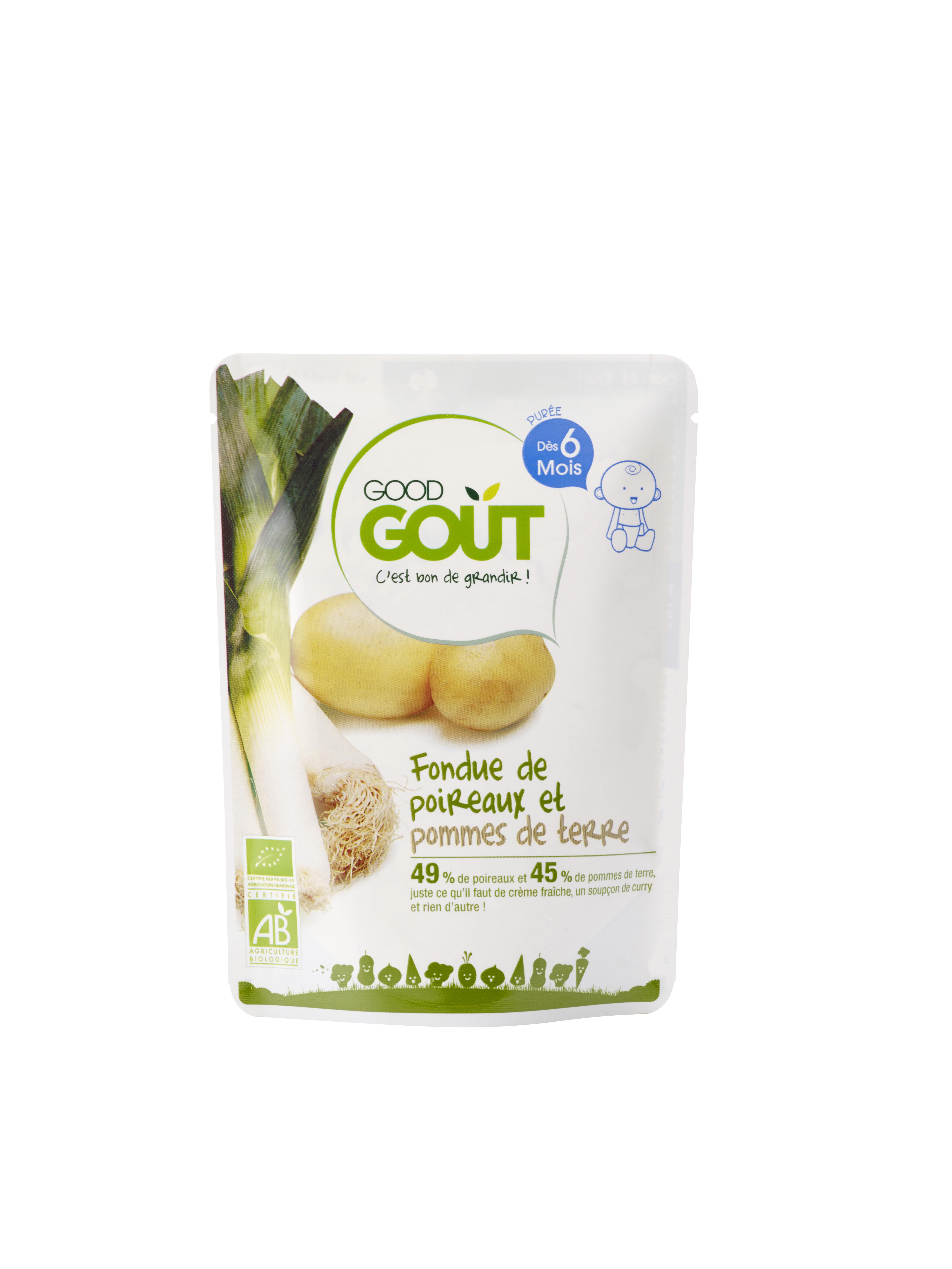 Fondue de poireaux et pommes de terre BIO, Good Goût (190 g) - dès 6 mois