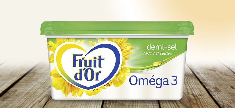 Margarine demi-sel, Fruit d'Or (250 g)