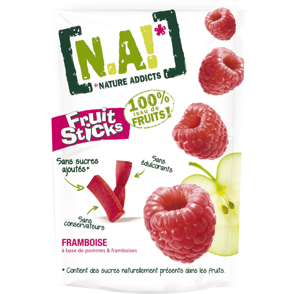 Fruit Sticks framboise, N.A! (40 g)