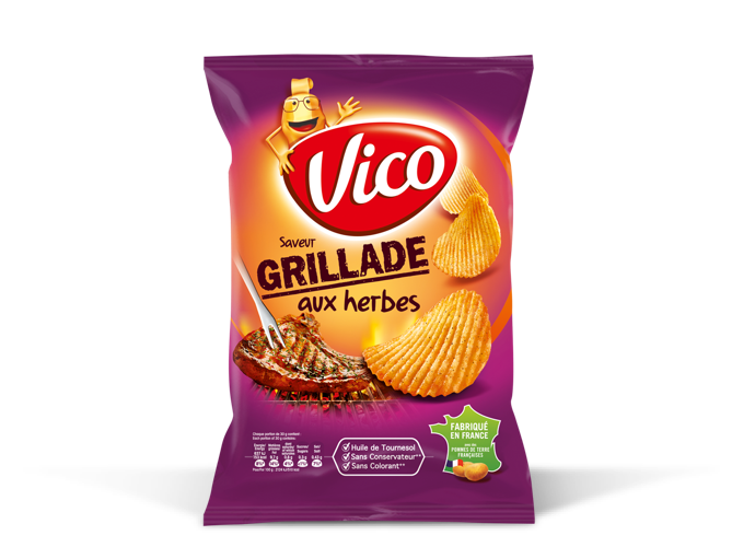 Chips saveur grillade aux herbes, Vico (120 g)