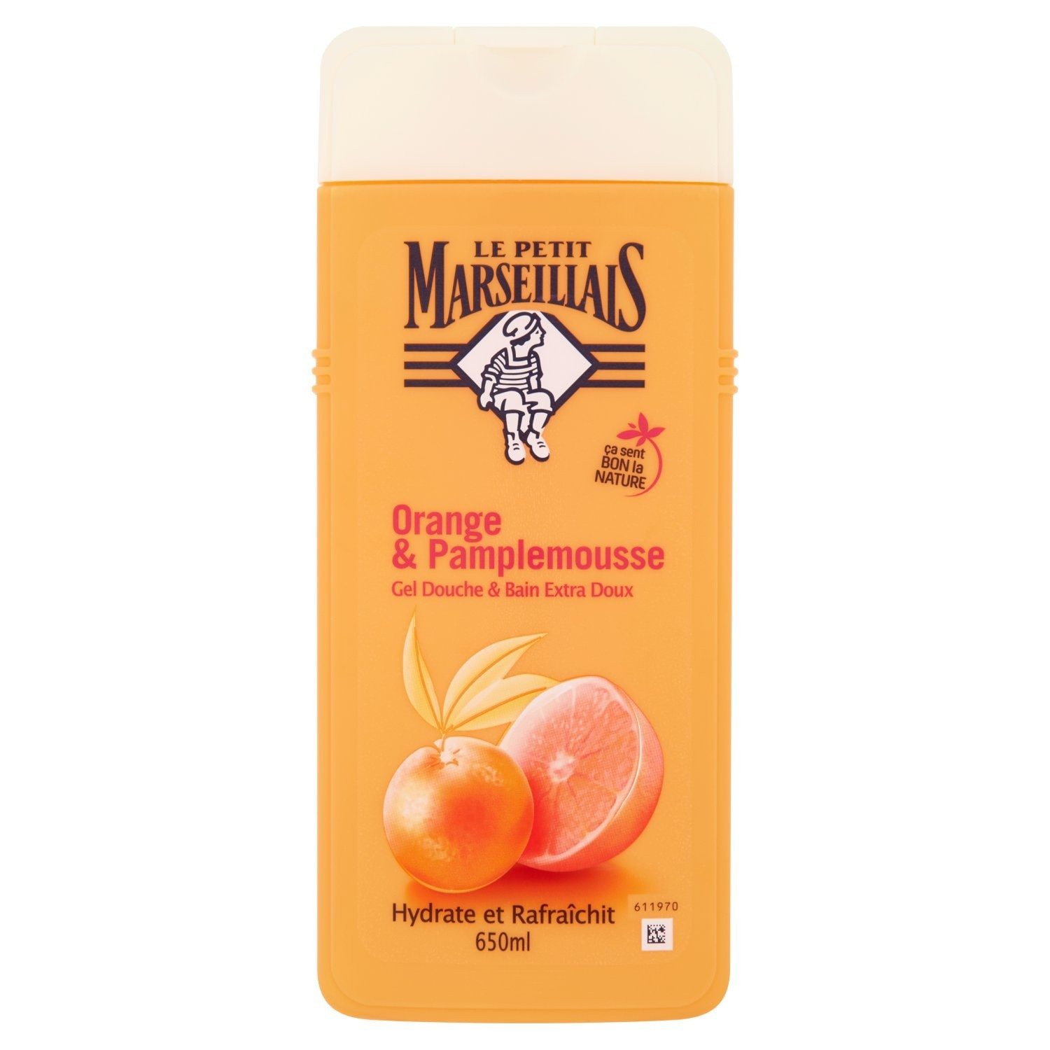 Gel douche orange pamplemousse, Le Petit Marseillais (650 ml)
