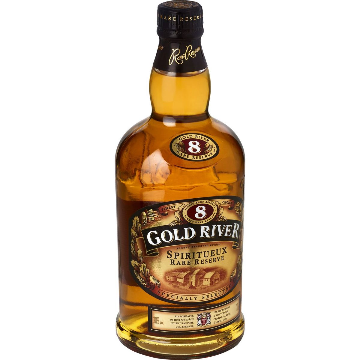 Whisky rare reserve 8 ans d'âge, Gold River (70 cl)