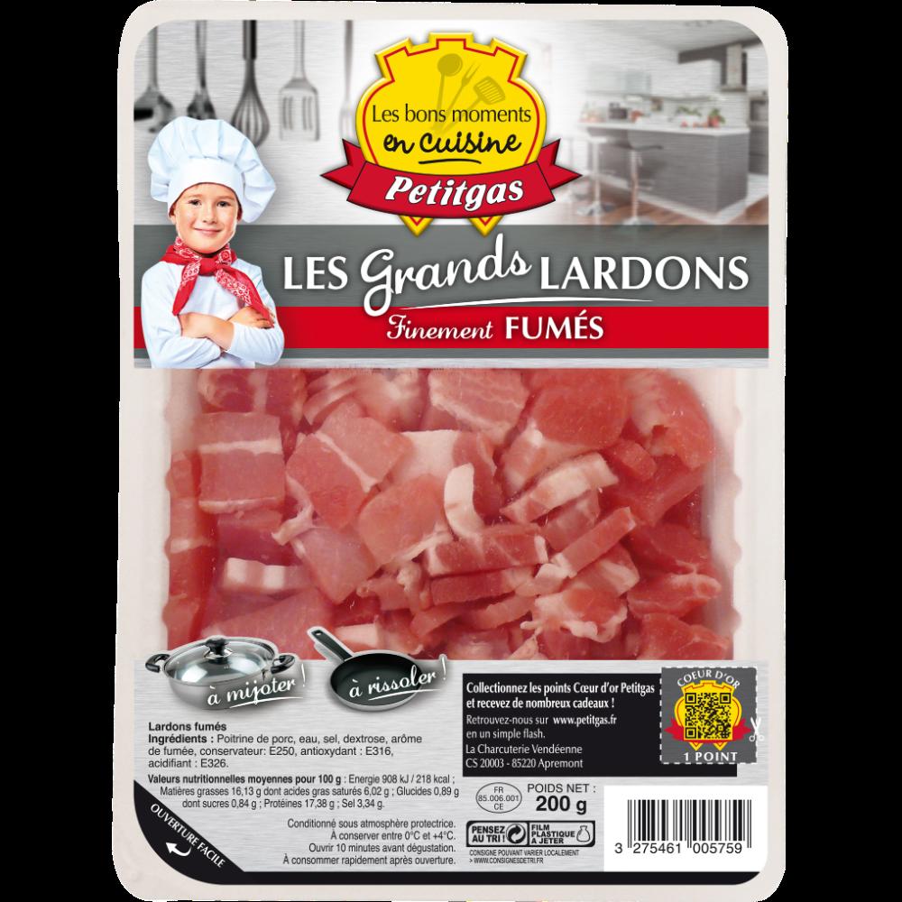 Grands lardons fumé, Petitgas (200 g)
