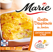 Gratin dauphinois au jambon, Marie Frais (280 g)