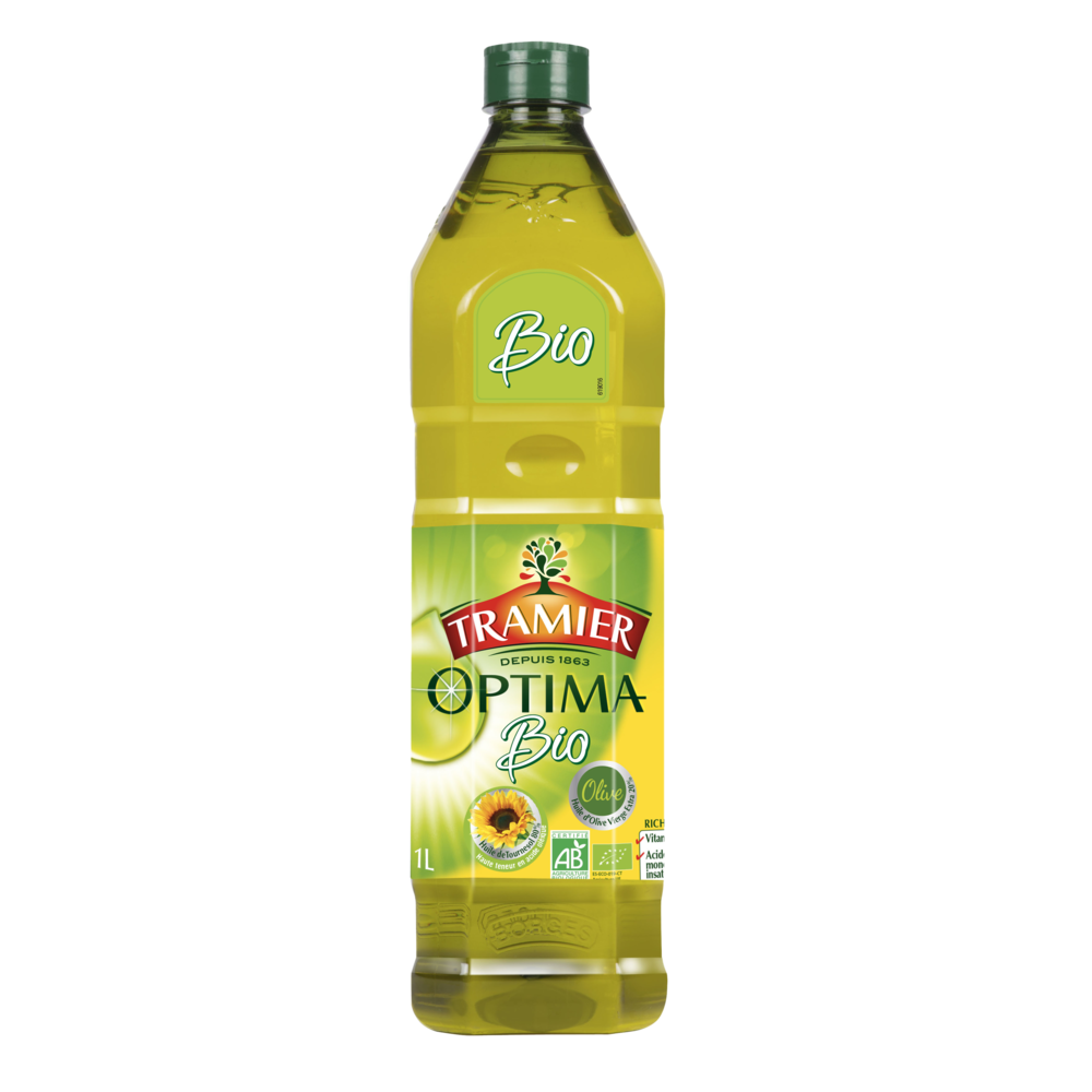 Huile optima olive + tournesol BIO, Tramier (1 L)