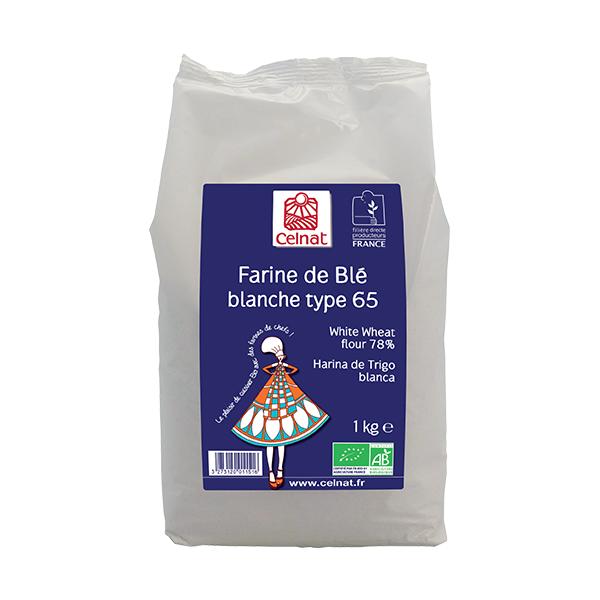 Farine de blé blanche T65 BIO, Celnat (1 kg)