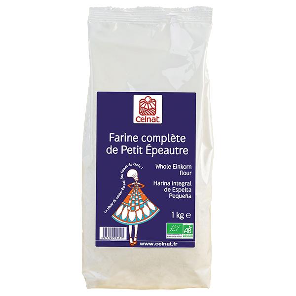 Farine complète de petit épeautre BIO, Celnat (500 g)