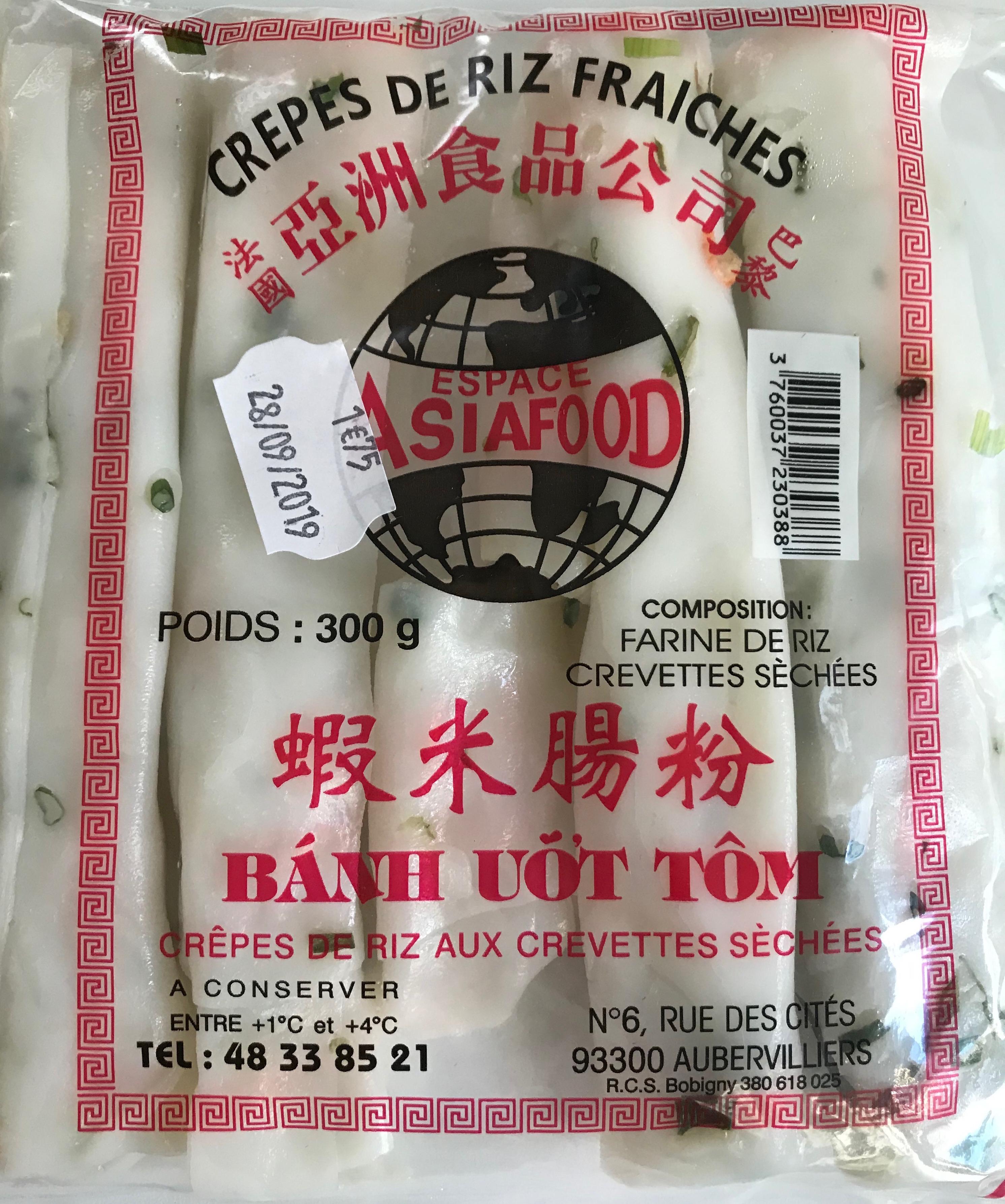 Crêpes de riz fraiches aux crevettes séchées, Espace Asia Food (300 g)