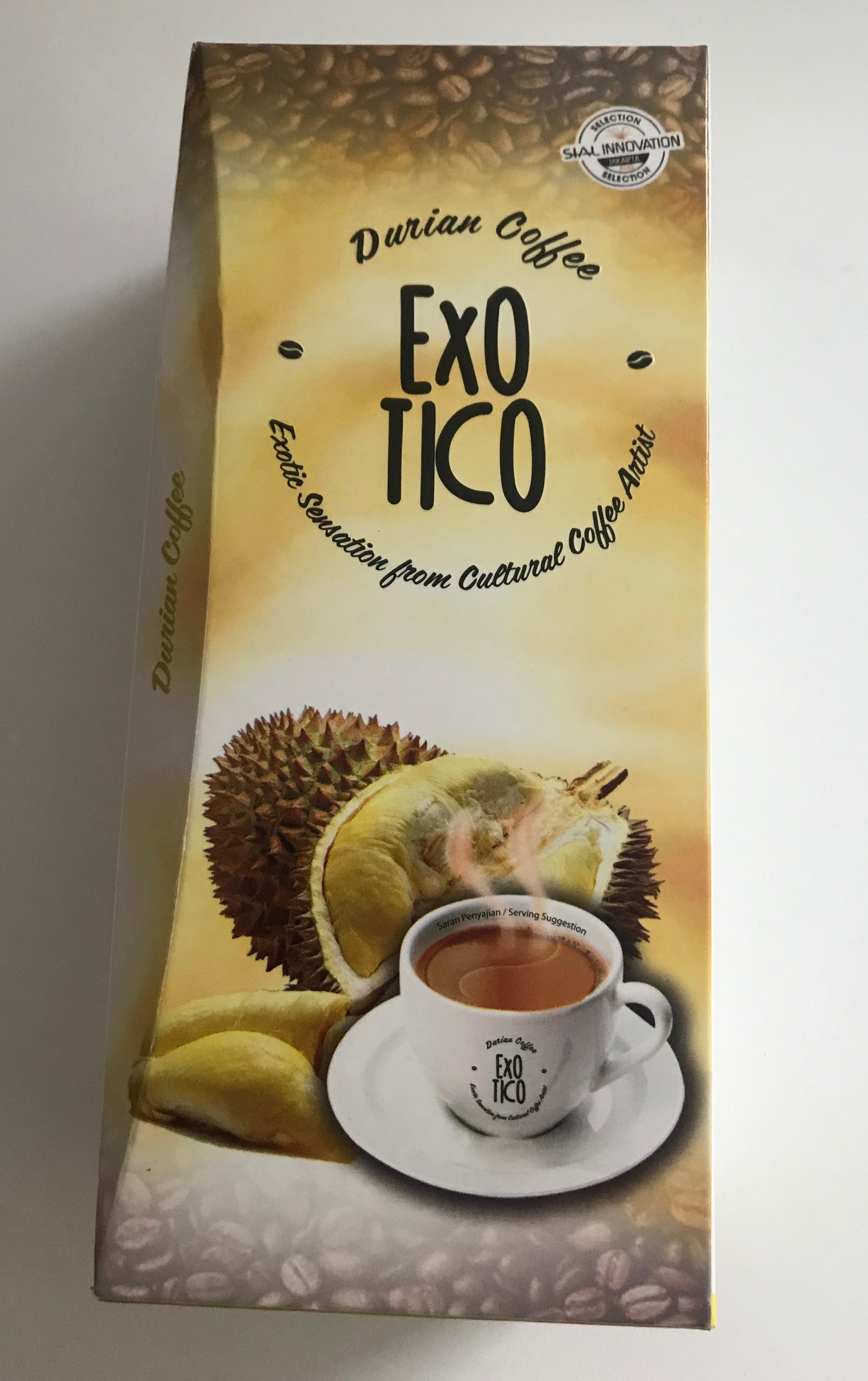 Préparation pour boisson au café et durian Indonésie, Exotico (125 g)