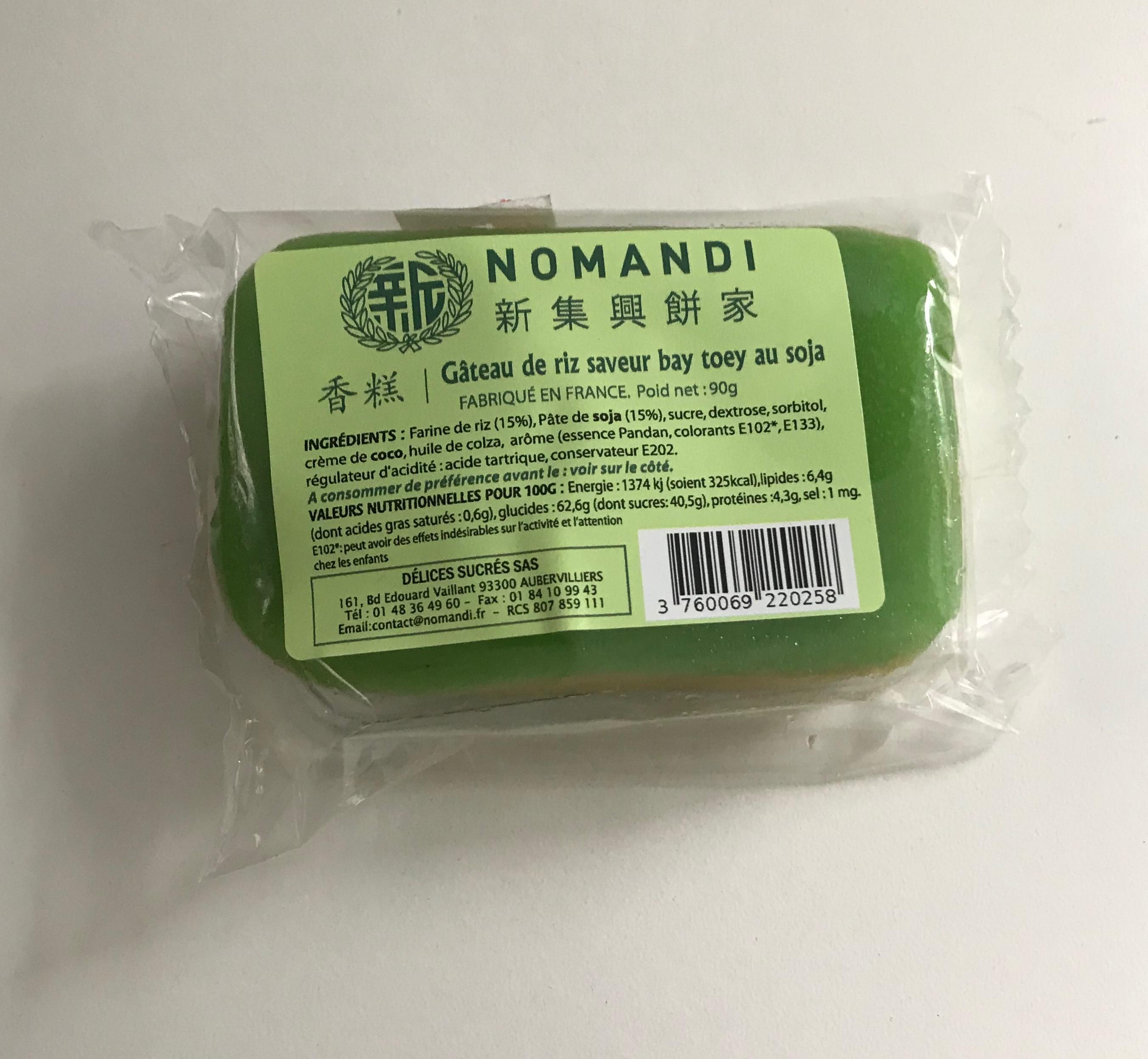 Gateau de riz saveur bay toey au soja, Nomandi (90 g)