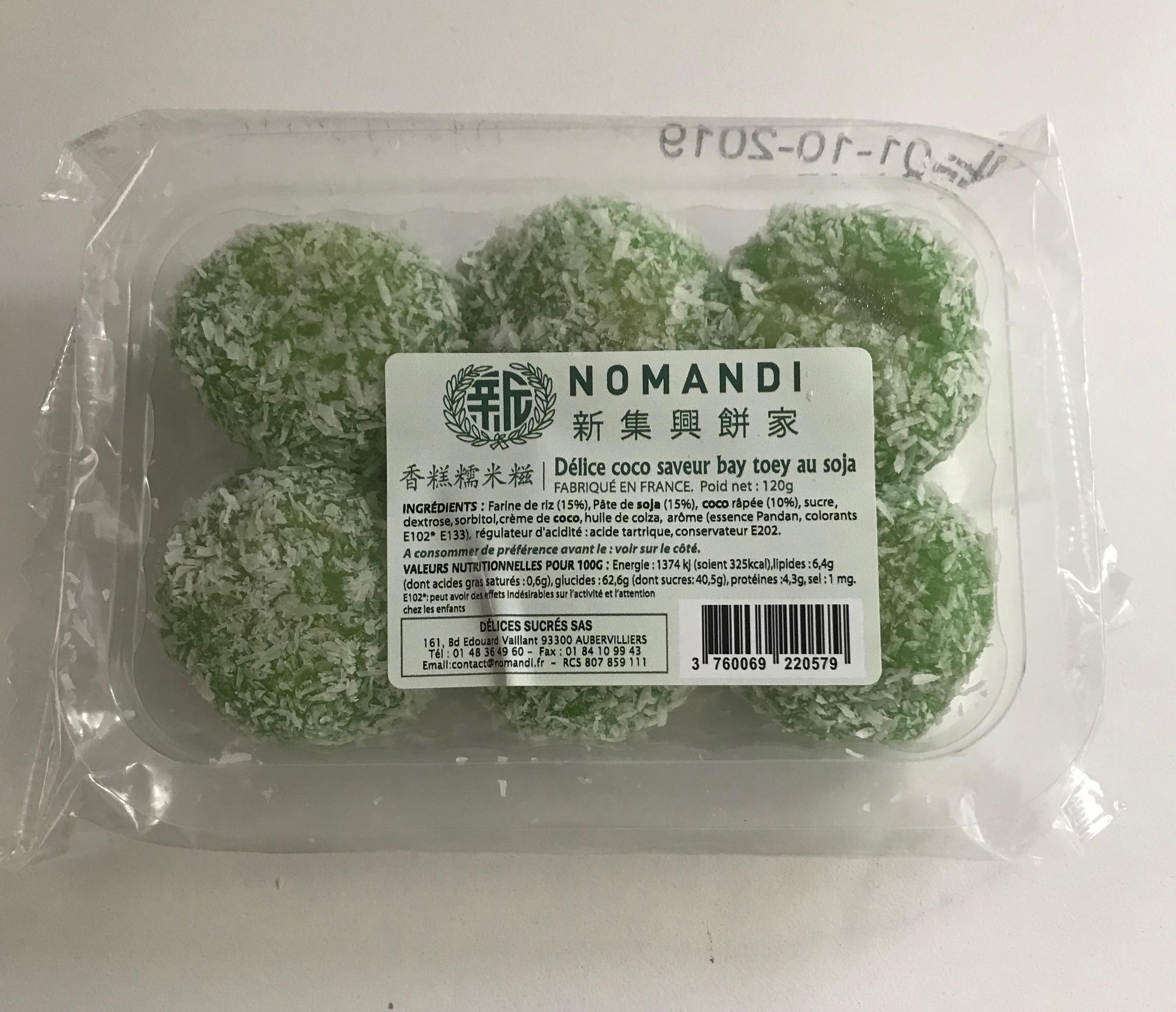 Délice coco saveur Bay toey au soja, Nomandi (120 g)