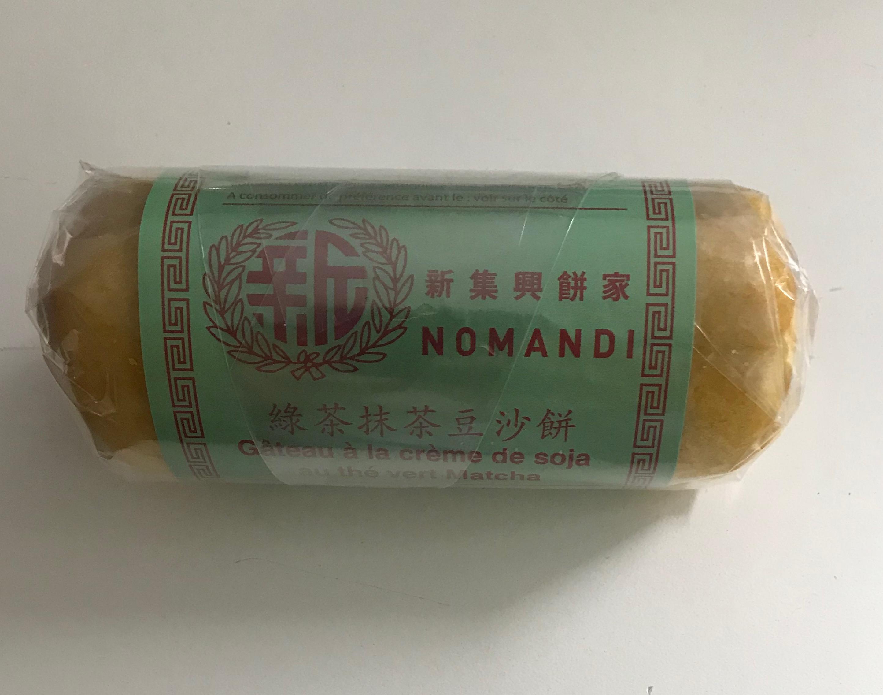 Gateau à la crème de soja au thé vert matcha, Nomandi (190 g)