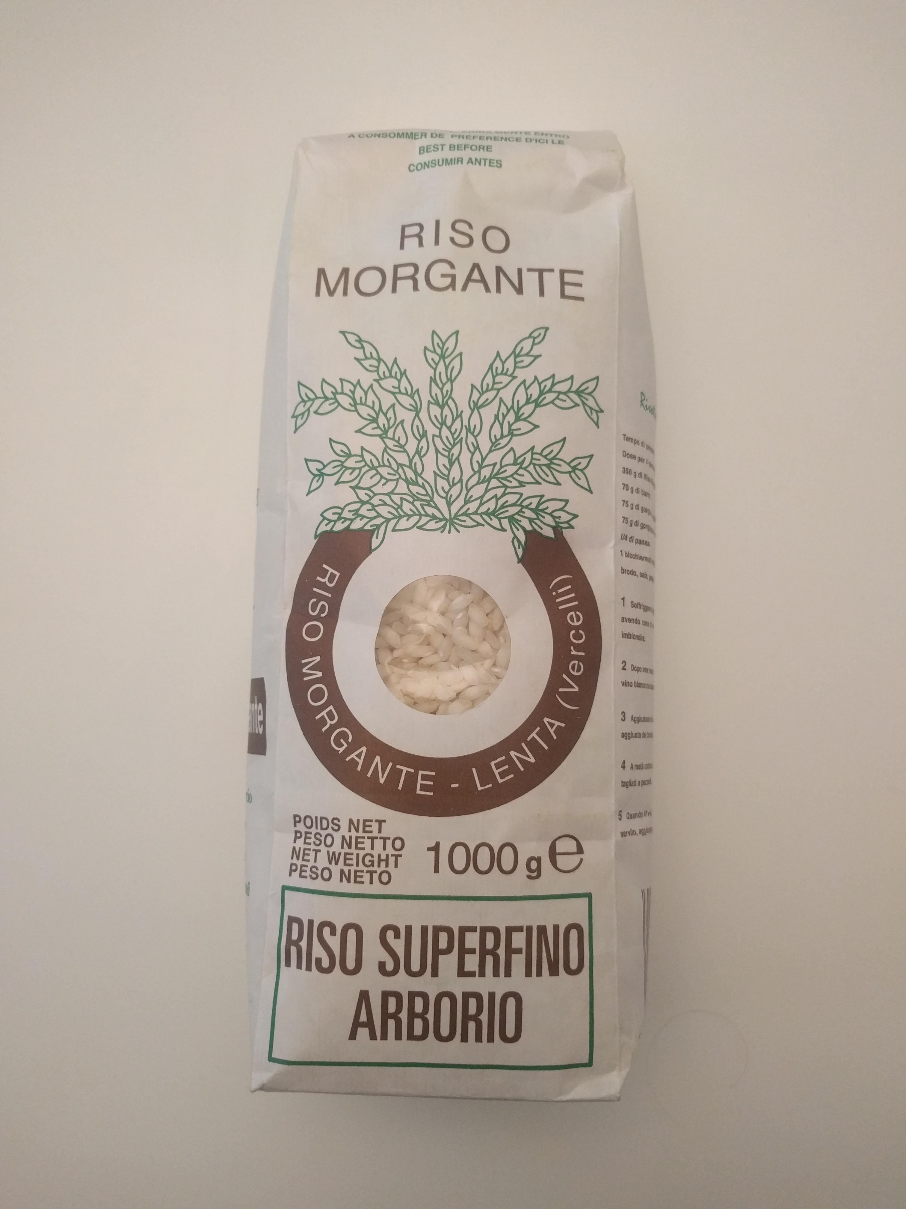 Riz arborio, Riso Morgante (1 kg)