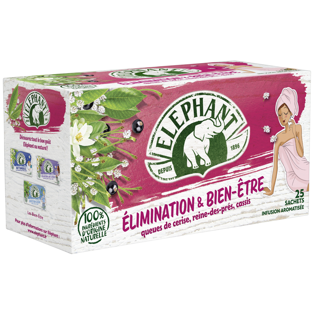 Infusions Bien-Être & Elimination, Elephant (25 sachets)