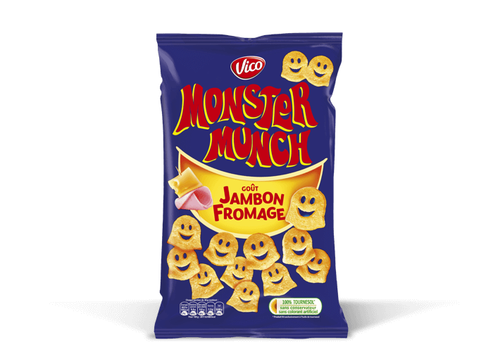 Monster Munch goût jambon fromage, Vico (85 g)