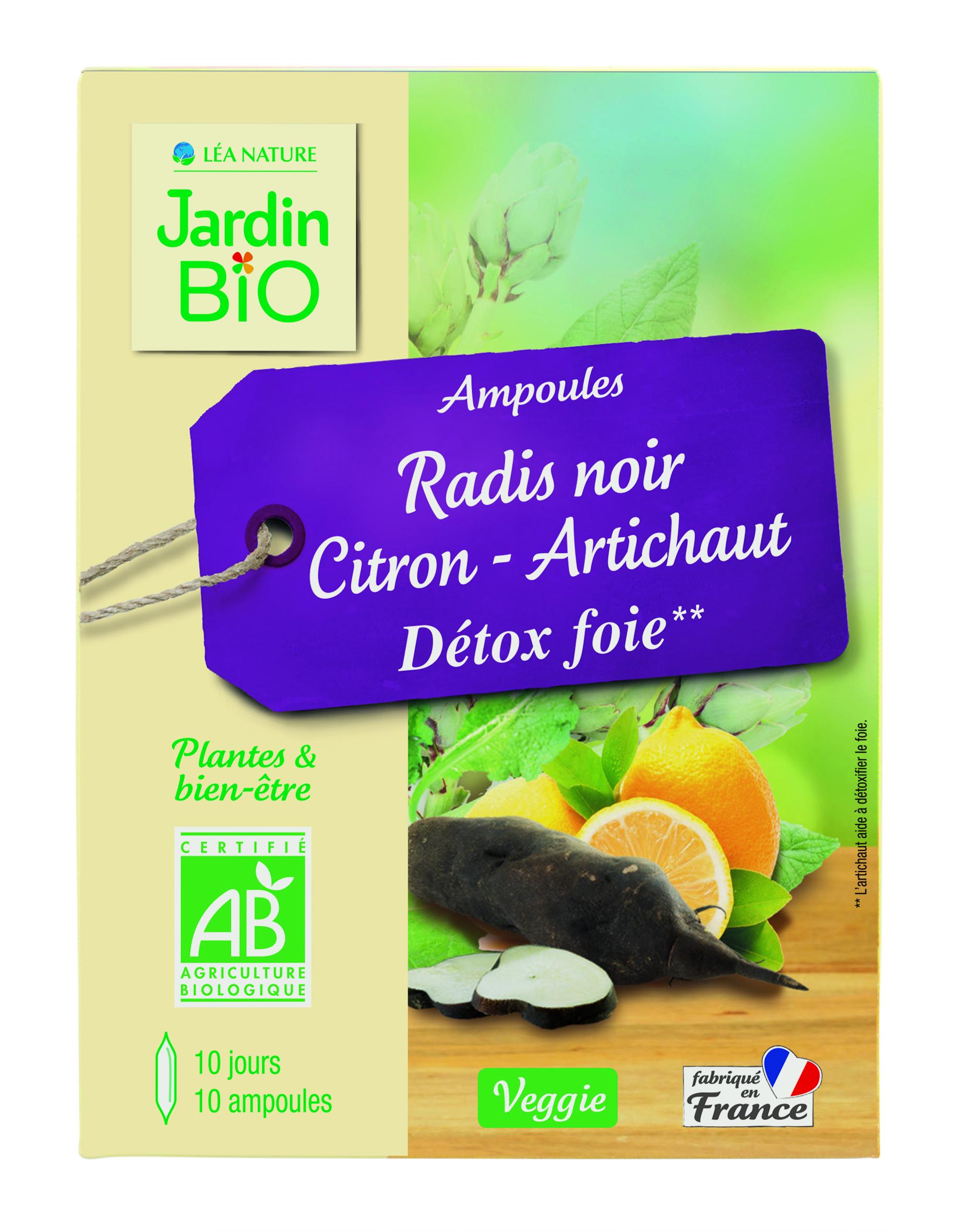 Ampoules Détox foie - Radis noir Citron Artichaut BIO (x 10)