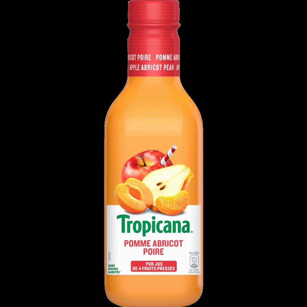 Jus de pommes, abricots et poires, Tropicana (90 cl)