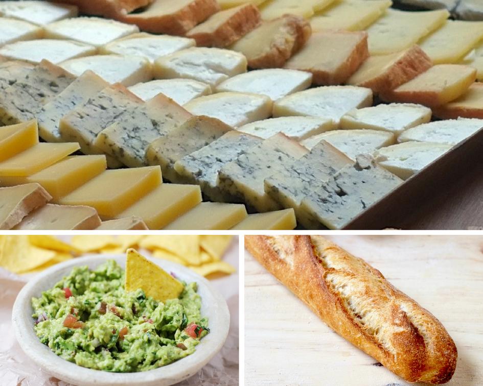 Kit apéro fromage/baguette/guacamole
