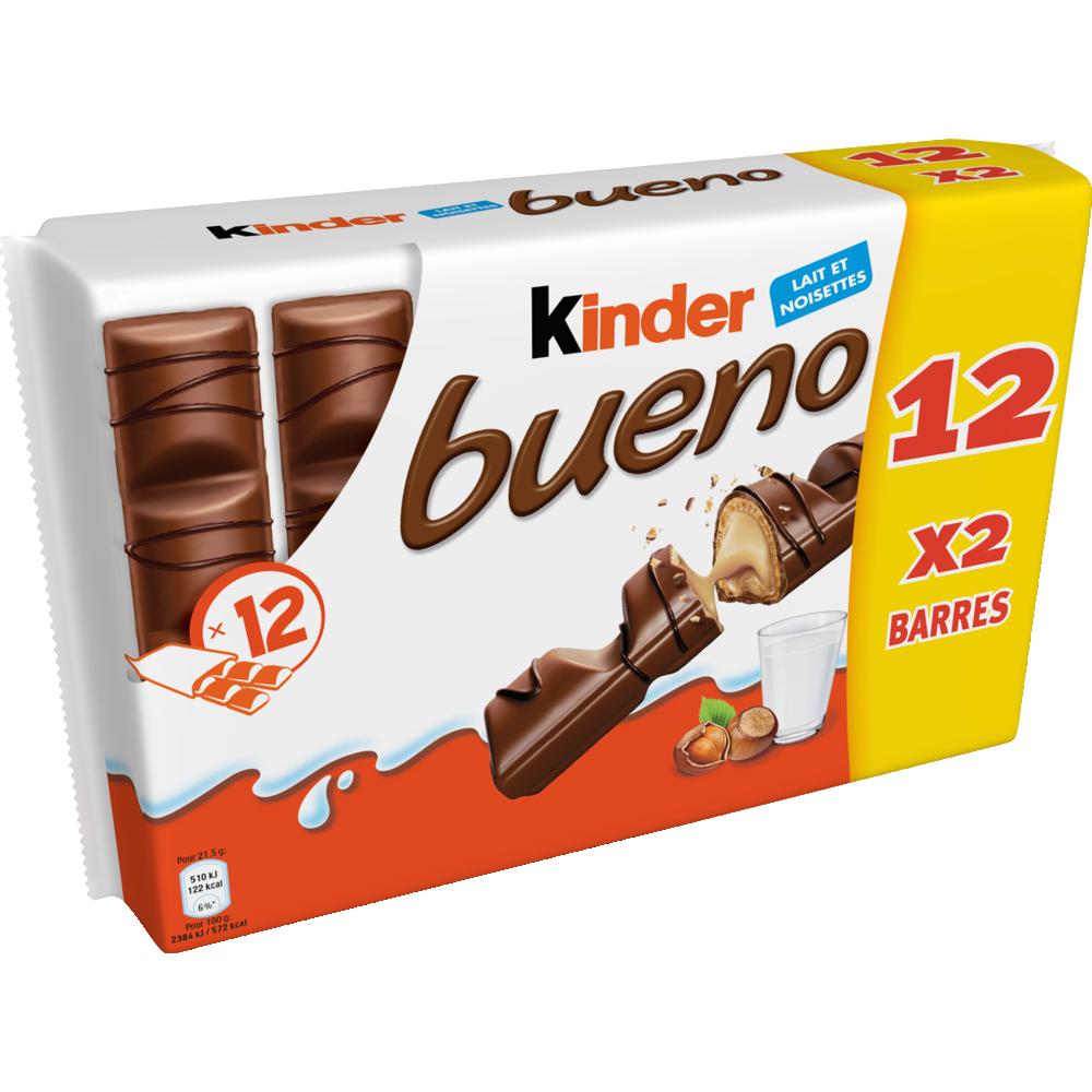 Kinder Bueno en pack de 2 (x 12)