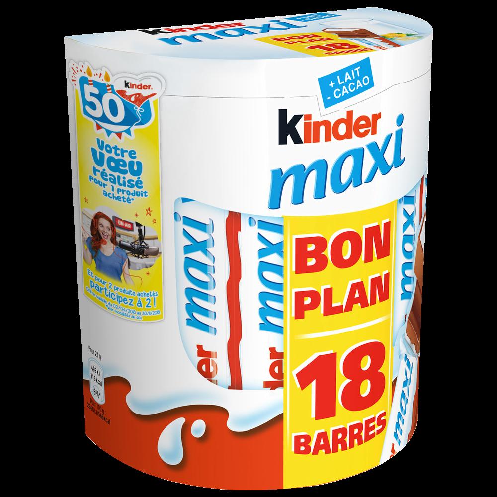 Kinder Maxi (18 barres, 378 g)