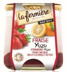 Yaourt Fraise/yuzu, La Fermière (2 x 160 g)