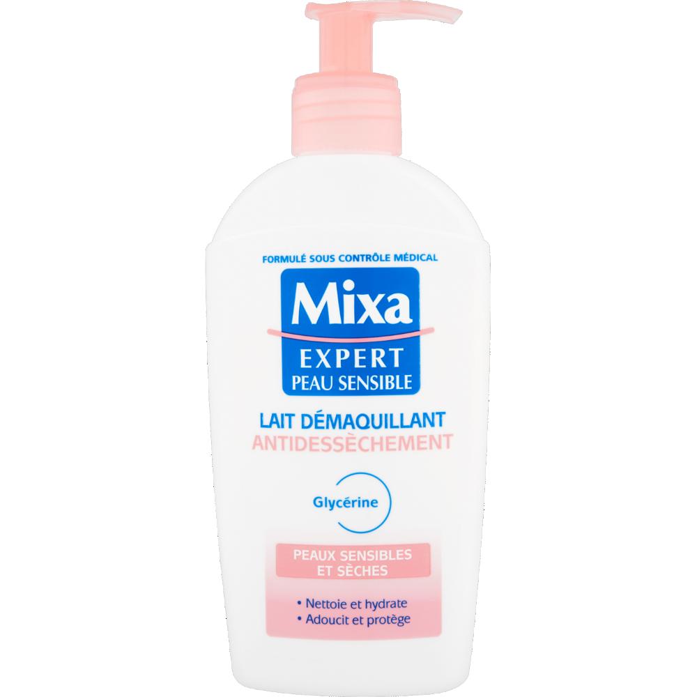 Lait démaquillant anti-dessèchement Visage, Mixa (200 ml)