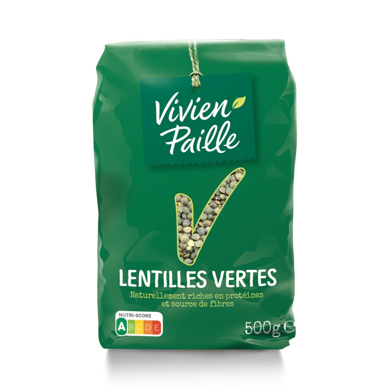 Lentilles vertes, Vivien Paille (500 g)
