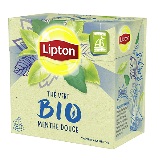 Thé vert Menthe Douce BIO, Lipton (20 sachets)