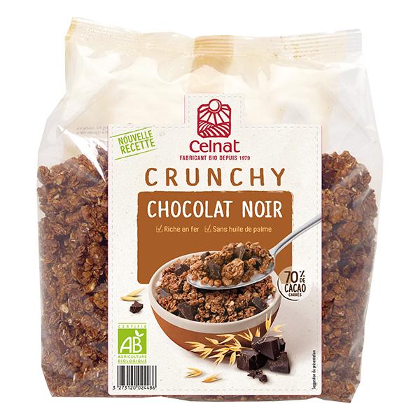 Crunchy chocolat noir - nouvelle recette BIO, Celnat (500 g)